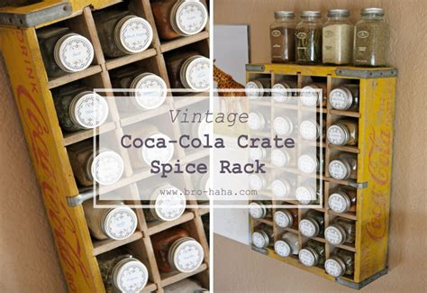 diy crate spice rack vintage coca cola crate spice rack discover create live