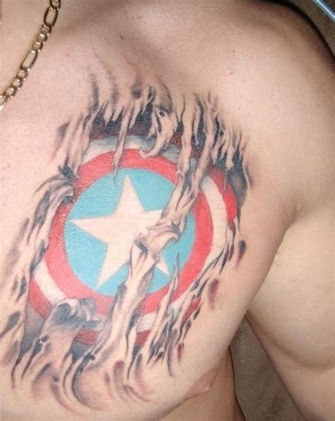 captain america tattoo 35 captain america designs for and
