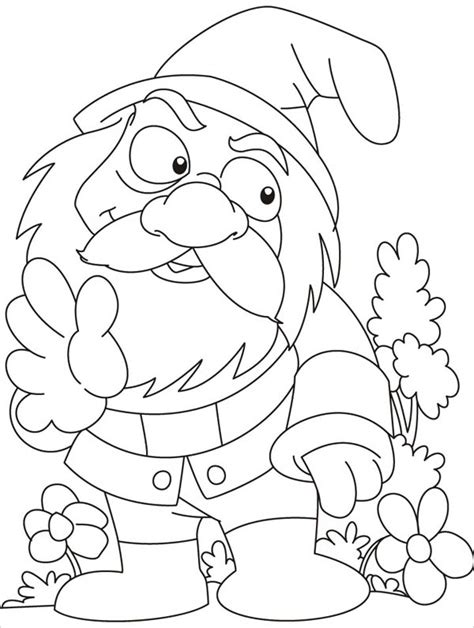 gnome coloring pages garden gnome pages coloring pages