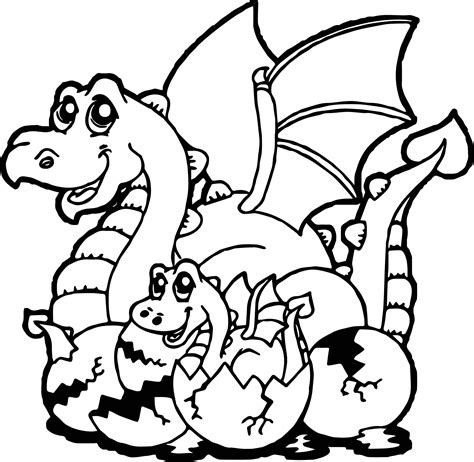 cartoon dragon coloring page baby dragon cartoon coloring page wecoloringpage