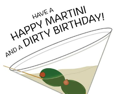 martini birthday card birthday card a martini starts a birthday