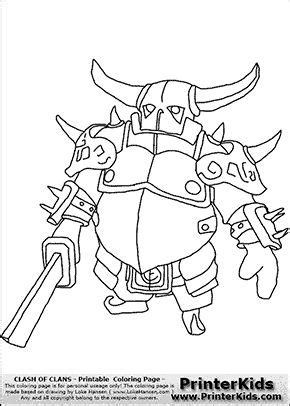 clash  clans pekka  coloring page coloring