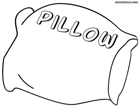 pillow coloring pages coloring pages to download and print