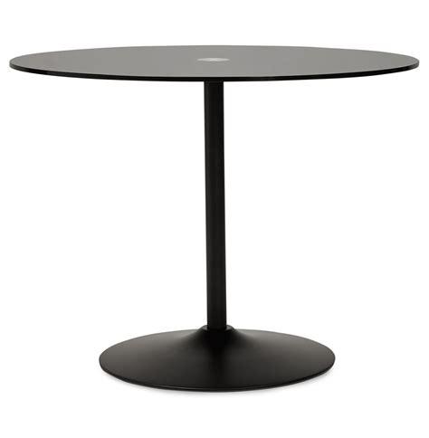 Ronde zwarte glazen eettafel trobo glazen design tafel
