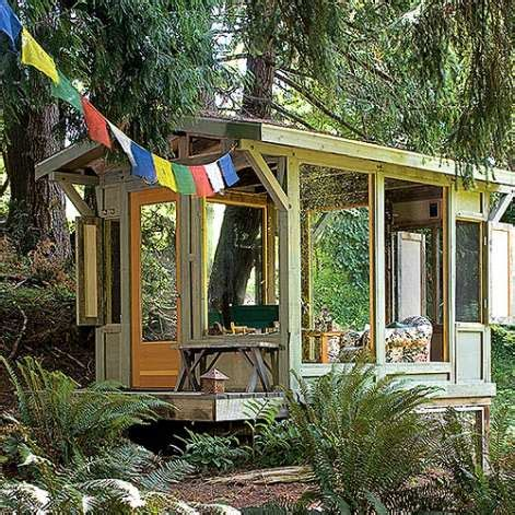 creative cottages creative ideas for backyard retreats and garden sheds sfgate