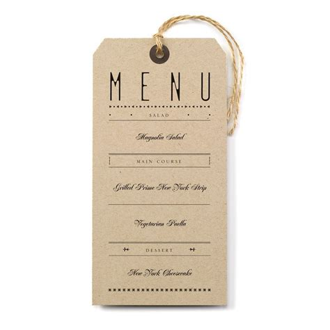 Wedding Invitation Menu Cards by Just The Ticket Menu Card Invitations By