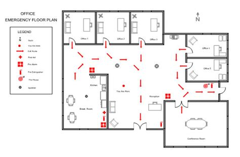 emergency exit floor plan template plan template