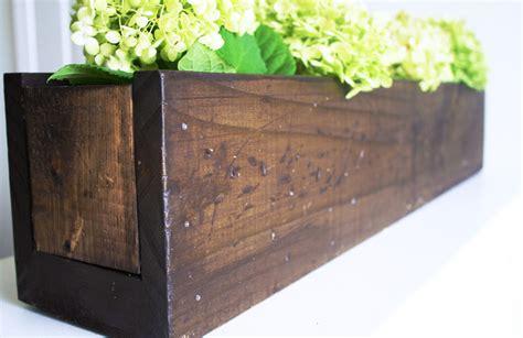 Rustic Wood Planter Box by Rustic Diy Plant Box Centerpiece