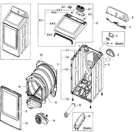 samsung parts samsung dryer parts diagram daytonva150