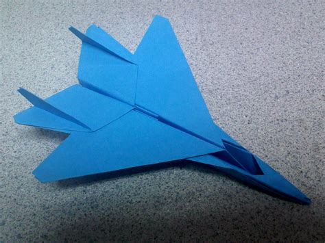 Origami F 15 - blue origami f15 fighter jet by theorigamiarchitect on