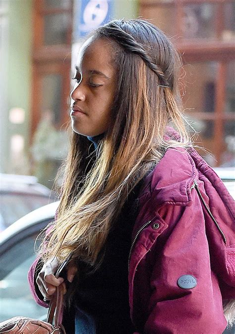 how long is malia obama hair pics malia obama s hairstyle at internship get her