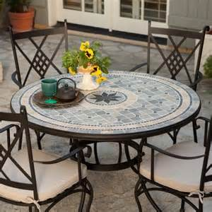 Mosaic Patio Table And Chairs Palazetto Barcelona 48 In Mosaic Patio Dining Set Seats 4 Contemporary Patio