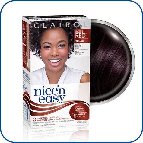 buy clairol nice n easy hair colour burgundy 113 1pk online at amazon com clairol nice n easy permanent hair color 2bg