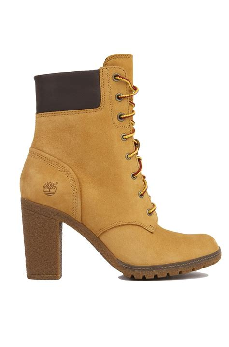 wheat nubuck timberland glancy 6 inch heeled boots womens shoes all me