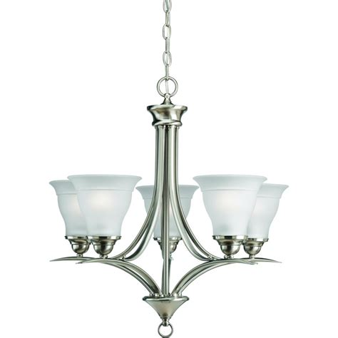 Chandelier Home Depot by Progress Lighting Collection Brushed Nickel 5 Light Chandelier The Home Depot Canada