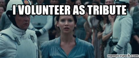 I Volunteer As Tribute Meme - i volunteer as tribute