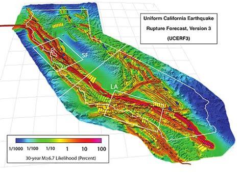 earthquake zones in california earthquake forecasting