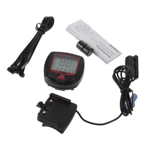 Speedometer Sepeda 14 Fungsi Lcd Display speedometer sepeda 14 function lcd display bicycle black jakartanotebook