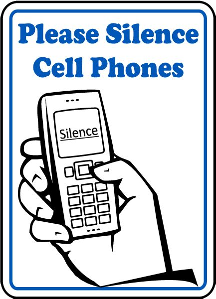 Erokawize Your Cell Phone by Silence Cell Phones Sign F7215 By Safetysign