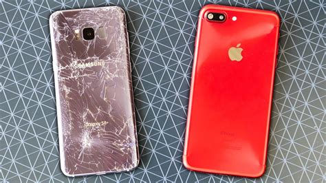 Samsung S7 Edge Layar Pecah samsung galaxy s8 plus vs iphone 7 plus drop test