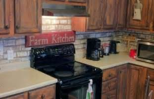 Faux Brick Backsplash In Kitchen Faux Painted Brick Backsplash Kitchen Colors Amp Design