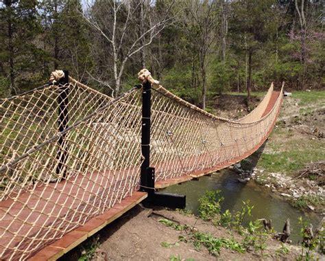 swinging bridge cground caesar creek state park dedicates new swinging bridge