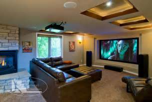 Basement Kitchens Ideas Basement Home Theater Contemporary Home Theater