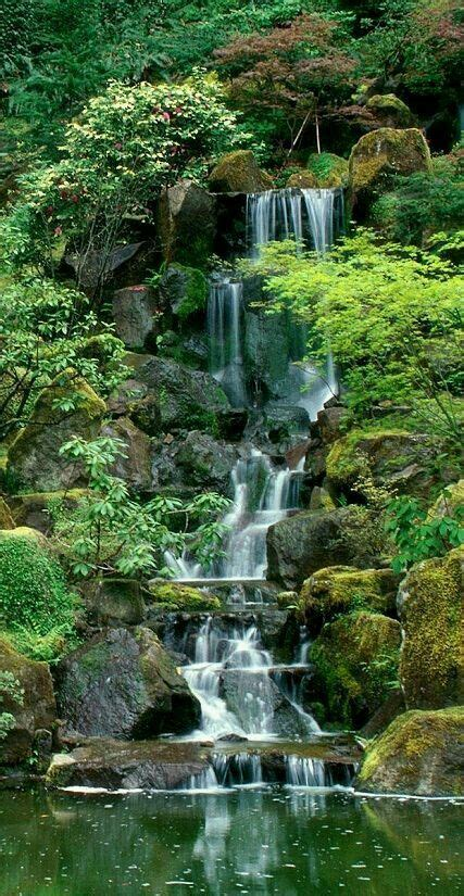 japanese garden garden waterfall waterfalls backyard