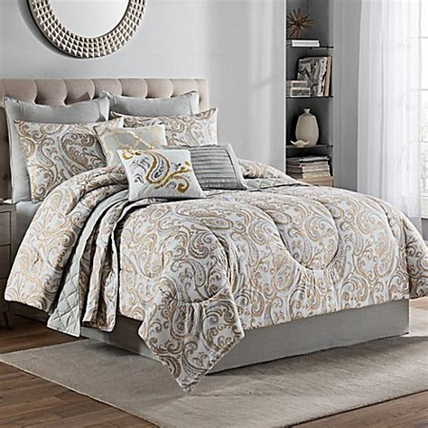lush bedding sets lush 10 piece comforter set in gold bed bath beyond