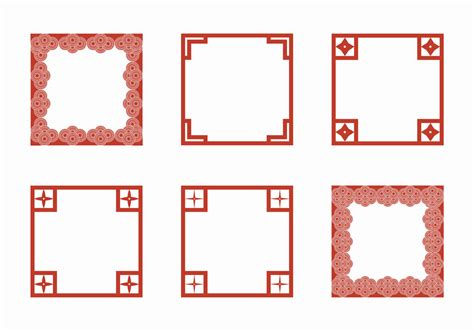 chinese pattern frame vector free free japanese border vector illustration download free