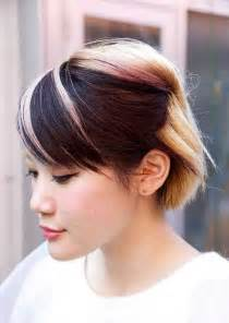 two colored hair two tone color hair ideas brown hairs