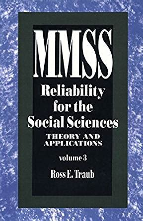 measurement theory and applications for the social sciences methodology in the social sciences books reliability for the social sciences theory and
