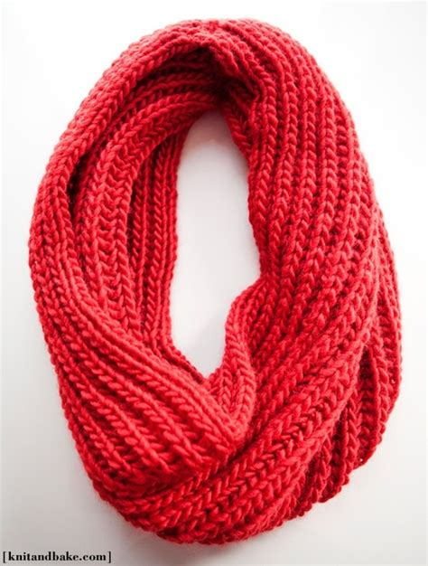 knitting pattern scarf infinity diy easy knit infinity scarf knitting pinterest
