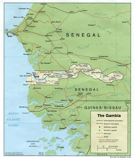 gambia world map the gambia