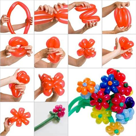 making flowers wonderful diy pretty balloon flowers for party