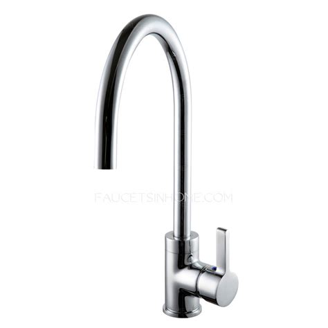 single rotatable brass kitchen sink faucets
