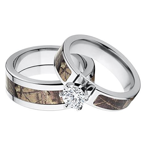 his and s matching realtree ap camouflage wedding ring