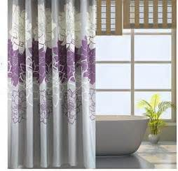 Purple Gray Curtains Bathroom Purple Gray Flowers Waterproof Polyester Shower Curtain 72 X 72 Inch Ebay