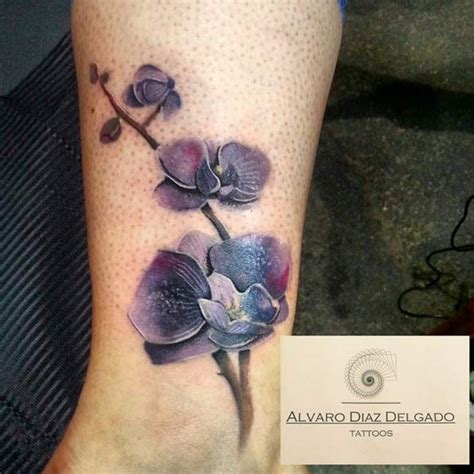 purple orchid tattoo designs 45 gorgeous floral tattoos for forearm ink