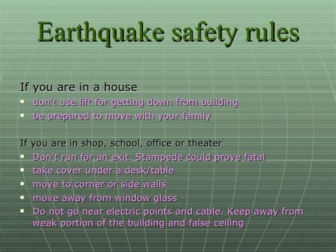 what to do for earthquake ppt
