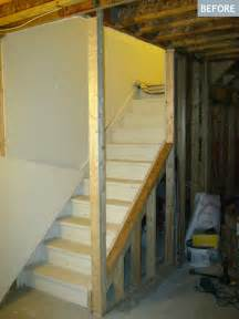 Basement staircase in progress the decision to open up the partial