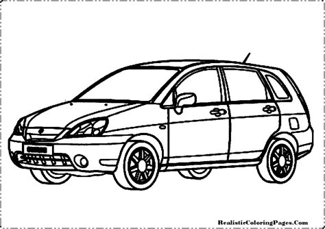 realistic cars coloring pages suzuki cars coloring pages realistic coloring pages