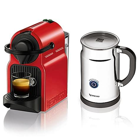 bed bath and beyond nespresso nespresso inissia bundle espresso machine bed bath beyond