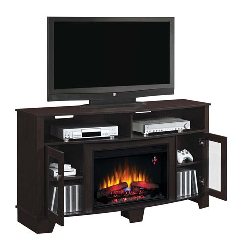 tv stands with fireplace insert classic la salle 62 inch tv stand with electric fireplace insert espresso 26mm4995 pe91