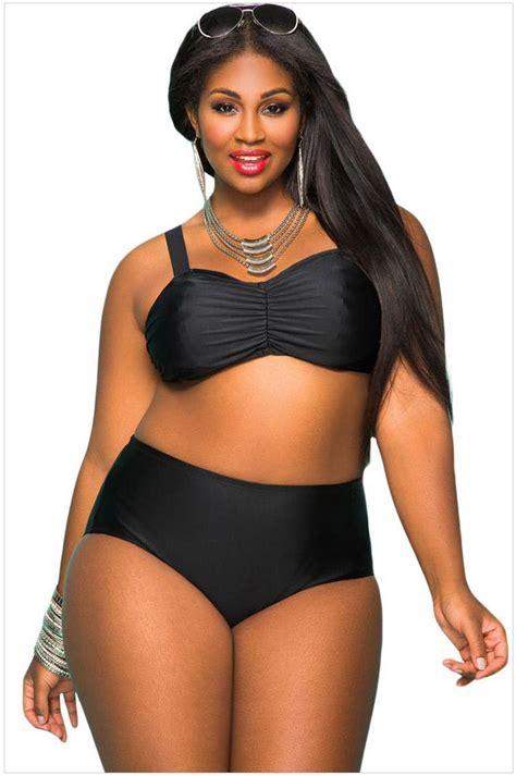 18 Angelin Black Big Size Jumbo Fit 2xl Dan 3xl 2018 swimsuit for plus size 2016 large size blue black two
