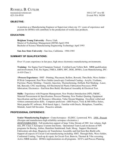 sle assembler resume mechanical assembler resume 100 images assembler