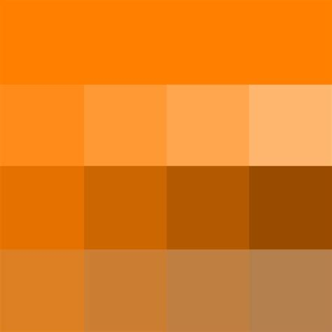 shade of orange orange hue tints shades tones hue pure color