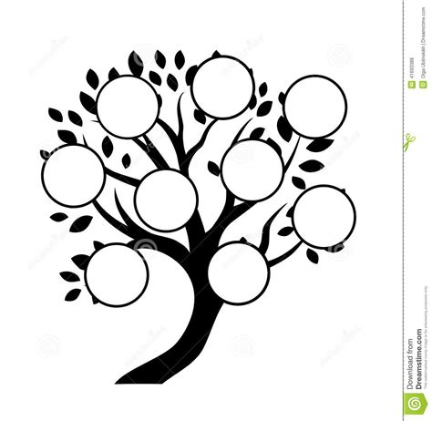 decorative family tree design stock vector illustration