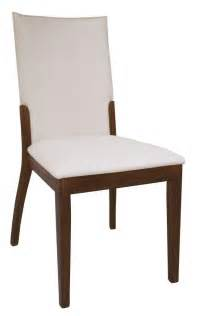 Contemporary Dining Chair Leather Upholstered Walnut Hardwood Chairs San Bernardino California Chlui