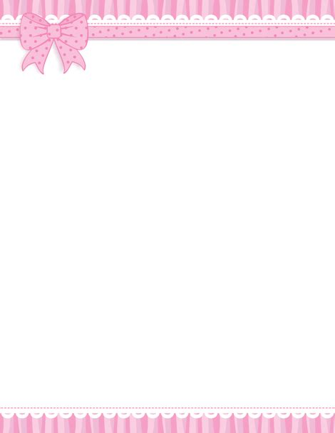 printable paper ribbon printable pink ribbon border free gif jpg pdf and png